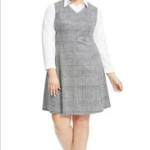 NY Collection Glen Plaid Twofer  Dress Size 4X